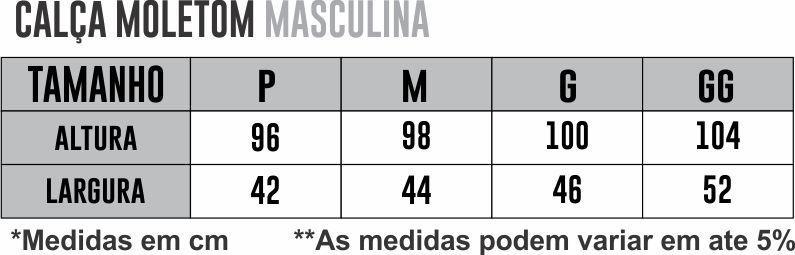 Calça Moletom Athleta  - PRETO/CINZA MESCLA