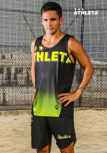 Calção Athleta SS20 Preto/ Amarelo