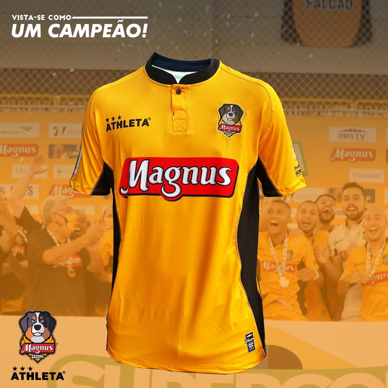 Camisa Magnus Oficial 2021 - Amarela - PRÉ VENDA