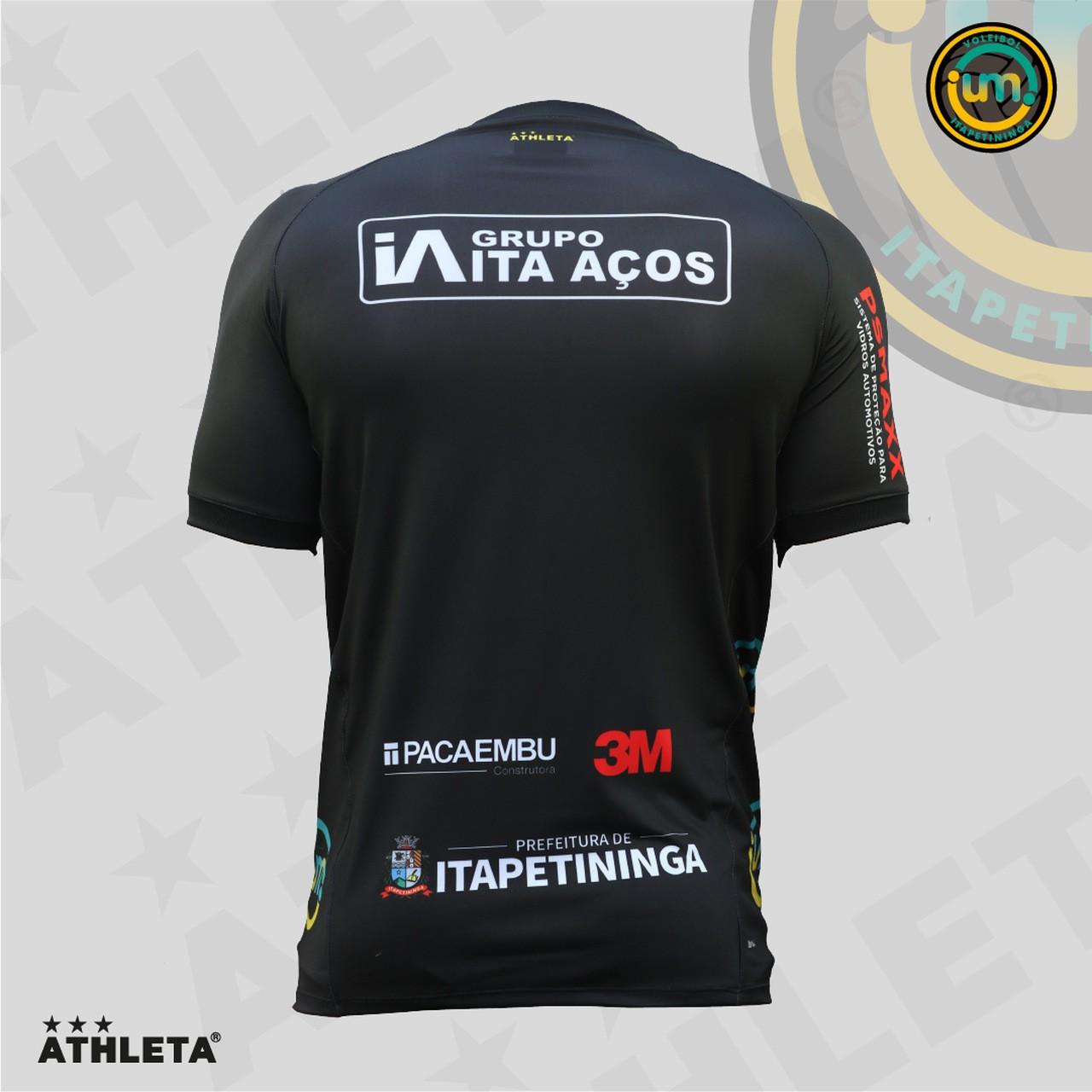 Camisa Vôlei UM Itapê - PRETA