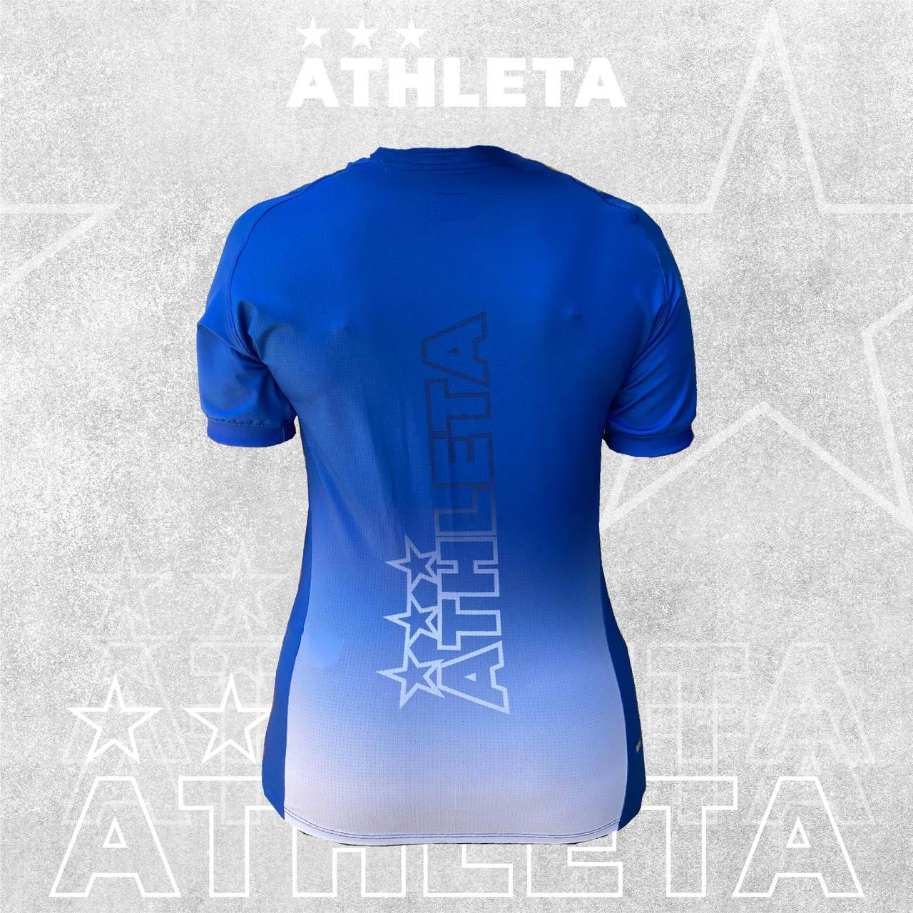 Camiseta Athleta Free Feminino - Azul com Branco