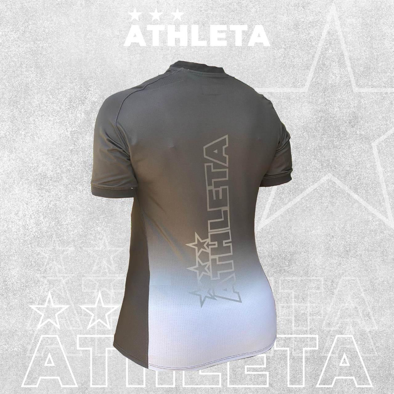 Camiseta Athleta Free Feminino - Preto com Cinza