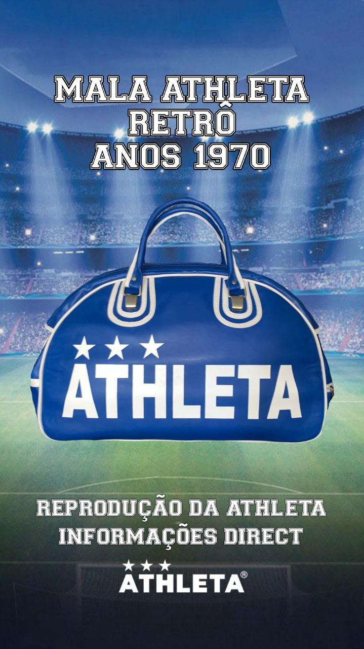 Mala Athleta Retrô Anos 1970 - Azul