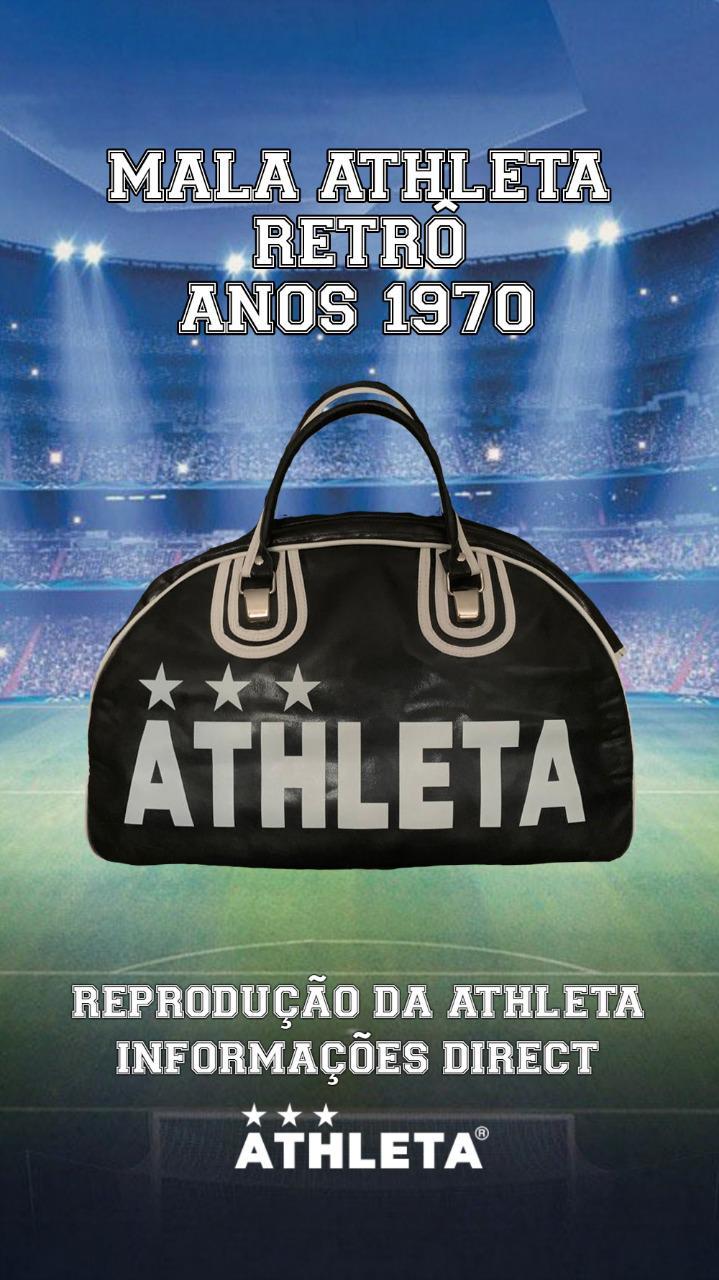 Mala Athleta Retrô Anos 1970 - Preta