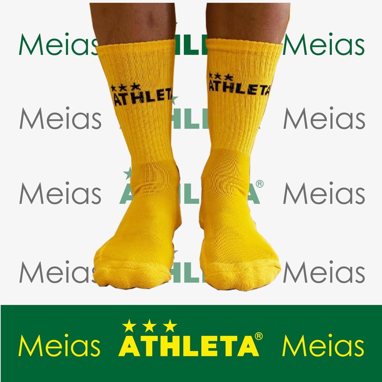 Meia Soquete Athleta - Amarela