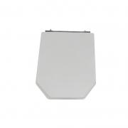 Assento Sanitário Poliéster para Louça Atrium (Incepa) Aço Cromado (Reb. Oculto) Cinza Platina