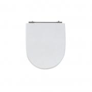Assento Sanitário Poliéster para Louça Calypso (Incepa) Aço Cromado (Reb. Oculto) Branco