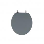 Assento Sanitário Poliéster para Louça Colonial (Hervy) Aço (Reb. Oculto) Cinza Plus