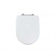 Assento Sanitário Poliéster para Louça Donna/Sig Bergamin (Celite) Aço Cromado (Reb. Oculto) Branco