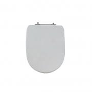 Assento Sanitário Poliéster para Louça Donna/Sig Bergamin (Celite) Aço Cromado (Reb. Oculto) Cinza Prata