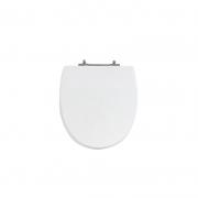 Assento Sanitário Poliéster para Louça Eros (Incepa) Aço Cromado (Reb. Oculto) Branco
