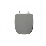 Assento Sanitário Poliéster para Louça Fit/versato (Celite) Aço Cromado (Reb. Oculto) Cinza Pérola