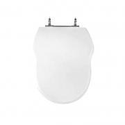 Assento Sanitário Poliéster para Louça Hampton (Incepa) Aço Cromado (Reb. Oculto) Branco