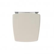 Assento Sanitário Poliéster para Louça Nuage (Incepa) Aço Cromado (Reb. Oculto) Pêssego/Rosa Shell