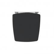 Assento Sanitário Poliéster para Louça Nuage (Incepa) Aço Cromado (Reb. Oculto) Preto