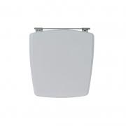 Assento Sanitário Poliéster para Louça Nuage (Incepa) Aço Cromado (Reb. Oculto) Cinza Platina