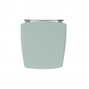 Assento Sanitário Poliéster para Louça Nuage (Incepa) Aço (Reb. Oculto) Verde Agua