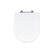 Assento Sanitário Poliéster para Louça Riviera/Smart (Celite) Aço Cromado (Reb. Oculto) Branco