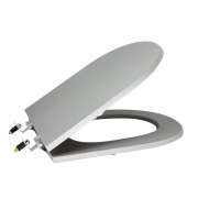 Assento Sanitário Poliéster para Louça Riviera/Smart (Celite) Super Luxo Cromado (Reb. Oculto) Metrópole