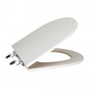 Assento Sanitário Poliéster para Louça Riviera/Smart (Celite) Super Luxo Cromado (Reb. Oculto) Castanha