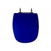 Assento Sanitário Poliéster para Louça Sabatini (Icasa) Aço Cromado (Reb. Oculto) Azul