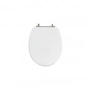 Assento Sanitário Poliéster para Louça Spot (Deca) Aço Cromado (Reb. Oculto) Branco