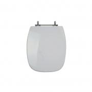 Assento Sanitário Poliéster para Louça Stylus (Celite) Aço Cromado (Reb. Oculto) Cinza Prata