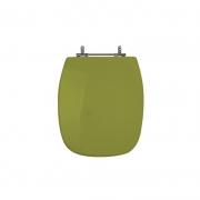 Assento Sanitário Poliéster para Louça Stylus (Celite) Aço Cromado (Reb. Oculto) Verde Itapoã
