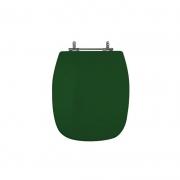 Assento Sanitário Poliéster para Louça Stylus (Celite) Aço Cromado (Reb. Oculto) Verde Village