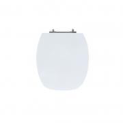 Assento Sanitário Poliéster para Louça Thema (Incepa) Aço Cromado (Reb. Oculto) Branco