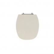 Assento Sanitário Poliéster para Louça Thema (Incepa) Aço Cromado (Reb. Oculto) Pêssego/Rosa Shell