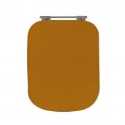 Assento Sanitário Poliéster para Louça Tivoli (Ideal Standard) Aço Cromado (Reb. Oculto) Laranja