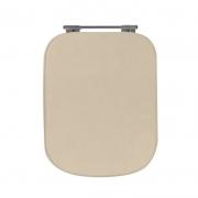 Assento Sanitário Poliéster para Louça Tivoli (Ideal Standard) Aço Cromado (Reb. Oculto) Visone