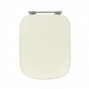 Assento Sanitário Poliéster para Louça Tivoli (Ideal Standard) Aço Cromado (Reb. Oculto) Bone