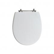 Assento Sanitário Poliéster para Louça Windsor (Deca) Aço Cromado (Reb. Oculto) Branco