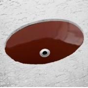 Cuba Oval Embutir 49x32.5cm SL - Celite Ocre