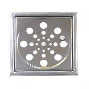 Grelha Quadrada Com Caixilho 10 cm Aço Inox Clarinox