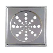 Grelha Quadrada Com Caixilho 15 cm Aço Inox Clarinox