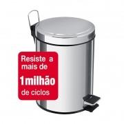 Lixeira Aço Inox Com Pedal Brasil 5L Tramontina