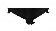 Ralo Linear Elleve Triangular Vertex Tampa Inox Black Matte Linear