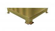 Ralo Linear Elleve Triangular Vertex Tampa Inox Gold Linear