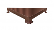Ralo Linear Elleve Triangular Vertex Tampa Inox Rose Gold Linear