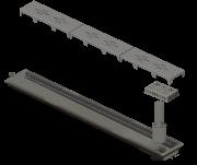 Ralo Linear Novii PVC Sifonado 75cm Acabamento Cinza Vazado Linear