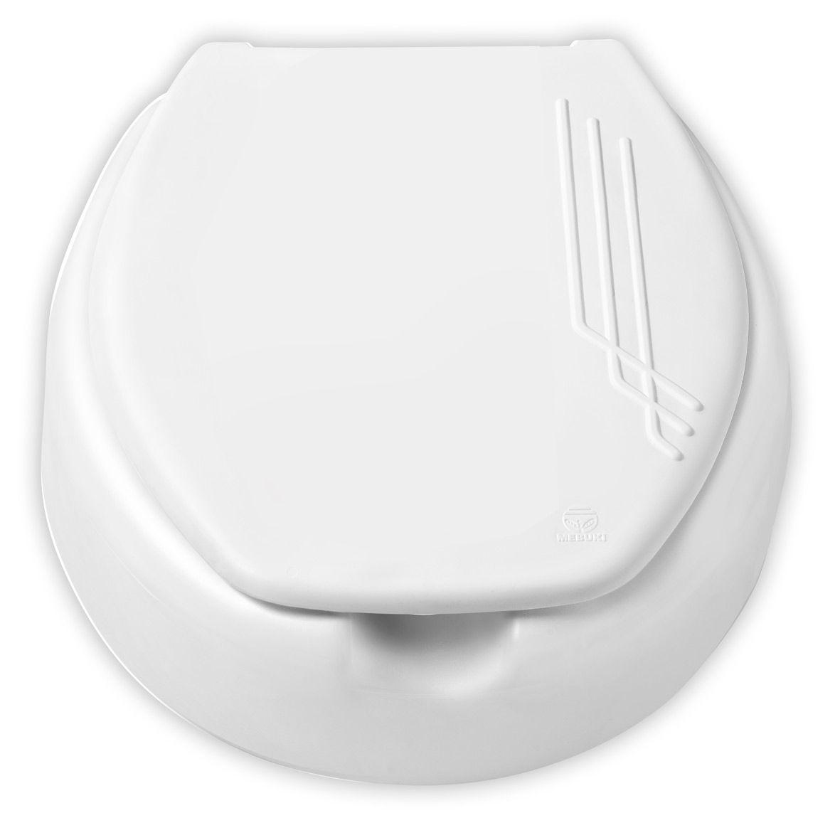 Assento Elevado 7,5cm Com Tampa Branco Mebuki