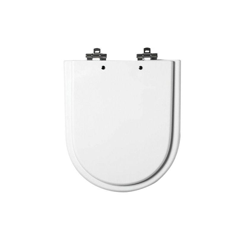 Assento Sanitário MDF Carrara/Link/Duna Branco Cromado Tondo