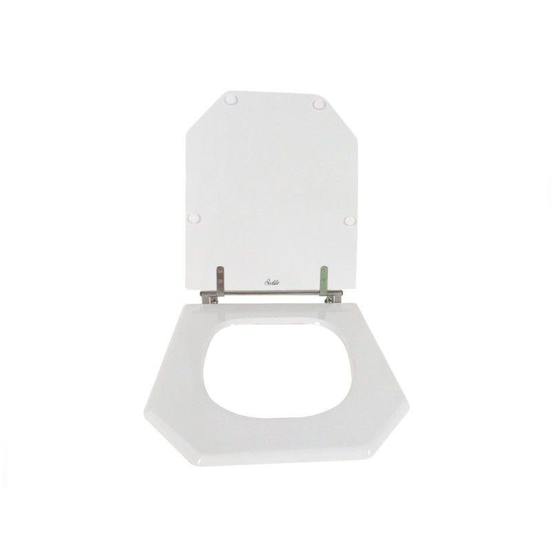 Assento Sanitário Poliéster Para Louça Incepa Atrium Liso Branco