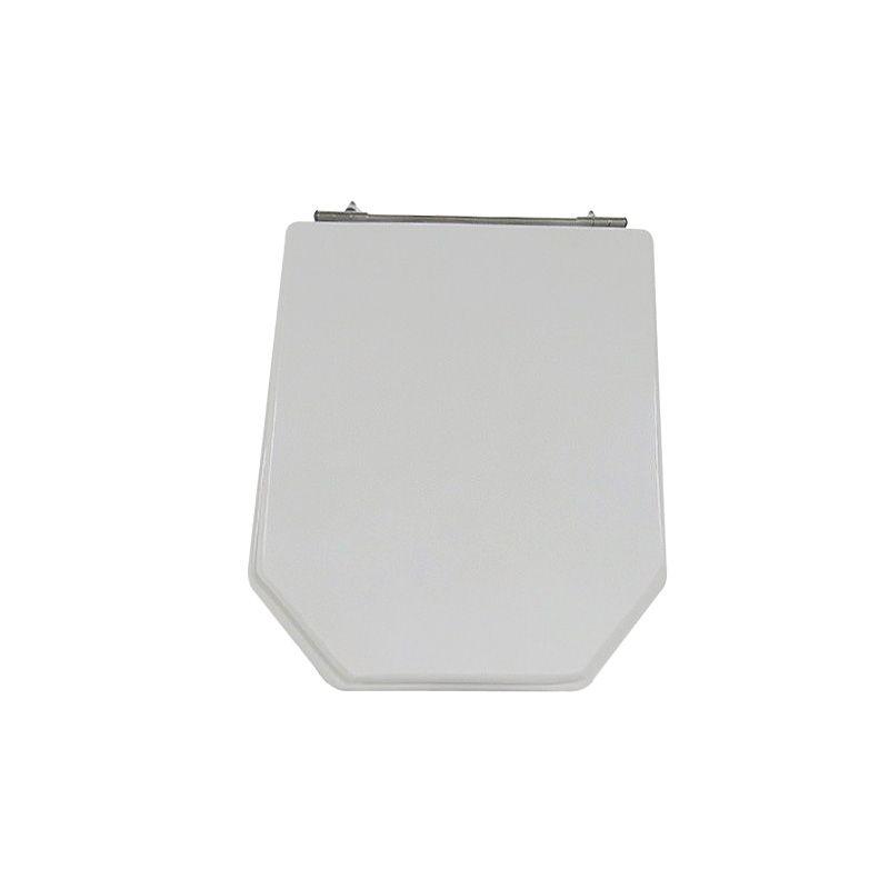 Assento Sanitário Poliéster Para Louça Incepa Atrium Cinza Platina