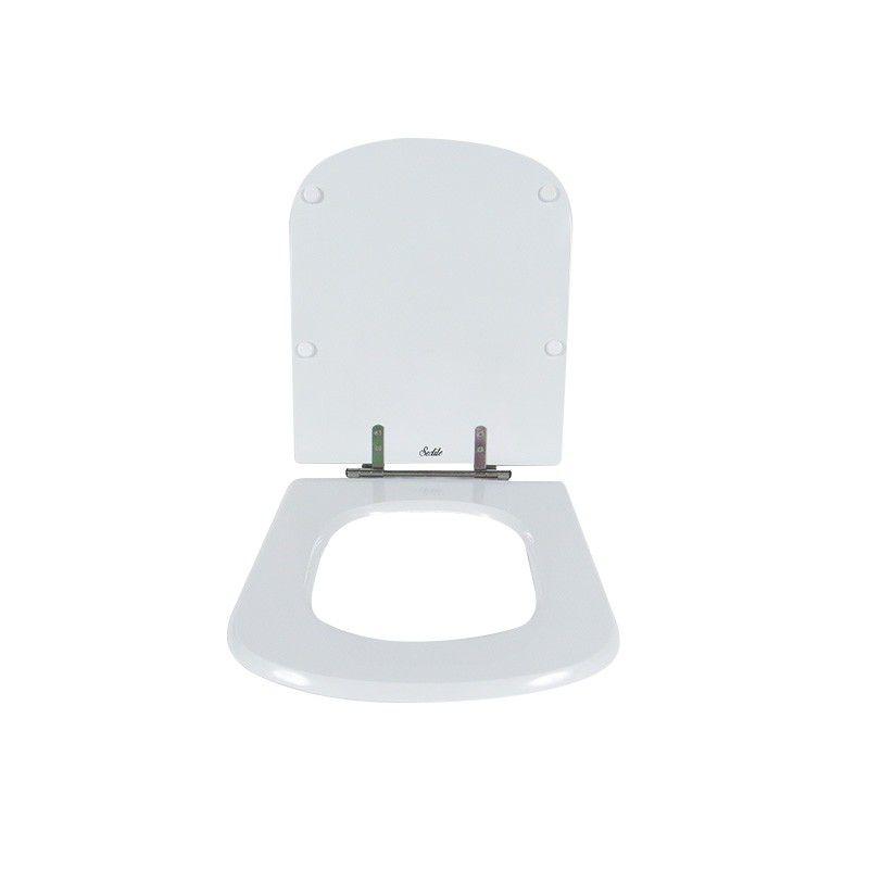 Assento Sanitário Poliéster Para Louça Roca Dama Senso Liso Branco