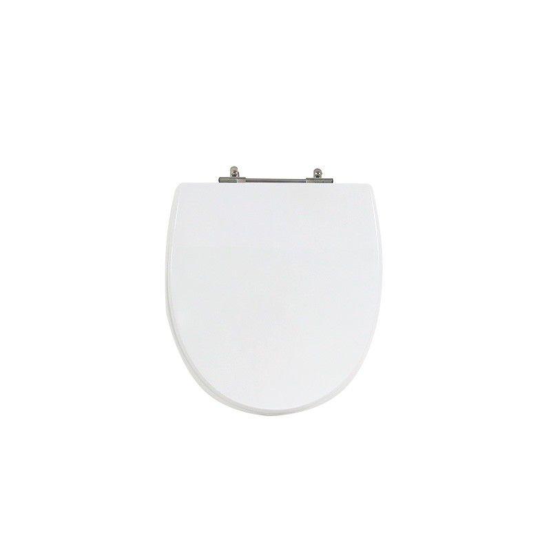 Assento Sanitário Poliéster Para Louça Incepa Eros Liso Branco