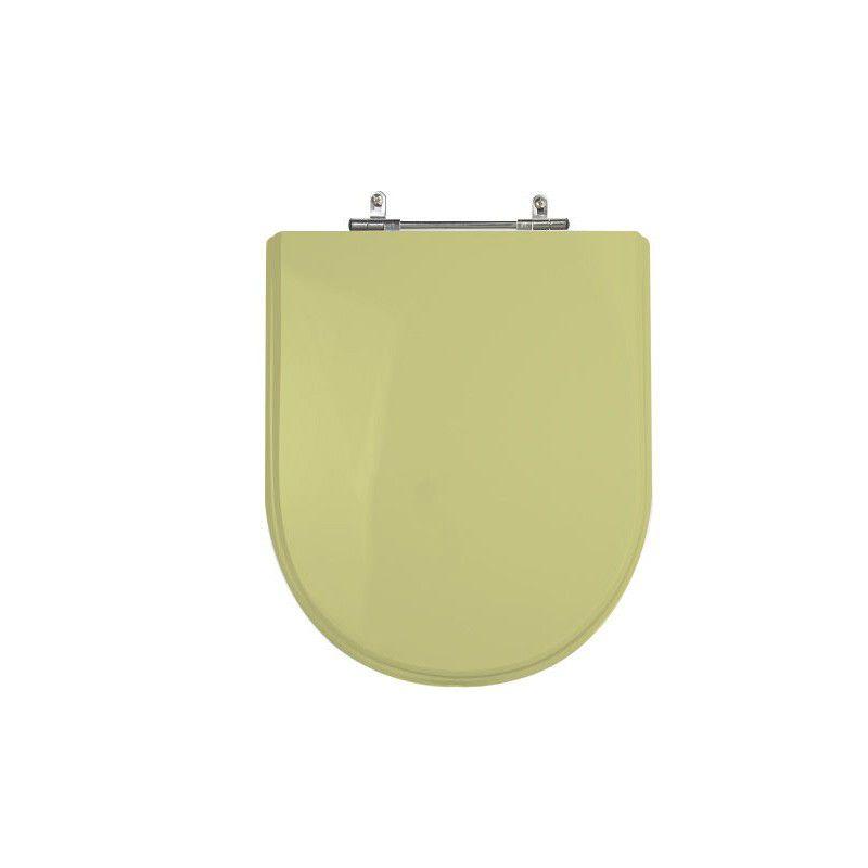Assento Sanitário Poliéster para Louça Link/Carrara/Belle Époque (Deca) Aço Cromado (Reb. Oculto) Bege Saara